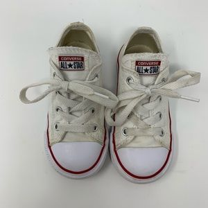 Toddler White Converse - Girl